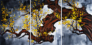 Cherry Blossom Painting Prints - The Plum Blossom 003 Print by Willson Lau