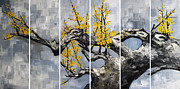 Cherry Blossom Painting Prints - The Plum Blossom 006 Print by Willson Lau