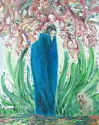 Image Painting Originals - THE POET and THE DOG by Fabrizio Cassetta