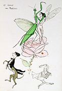 Insect Drawings - The Poets Corner by Sem