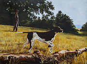German Pointer Prints - The Point Print by Richard De Wolfe
