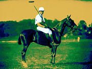 Horse And Riders Posters - The Polo Player - 20130208 Poster by Wingsdomain Art and Photography
