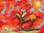 Polo Paintings - The Polo Player by Eve  Wheeler