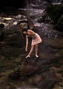 Angela Castillo Prints - The Pond Fairy Print by Angela Castillo