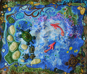 Fish Tapestries - Textiles Acrylic Prints - The Pond Acrylic Print by Heather Hennick