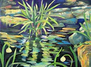 Abstracted Painting Posters - The Pond Poster by Maureen Lanza