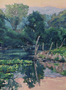 Gregory Arnett Paintings - The Ponds Edge by Gregory Arnett