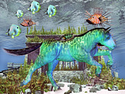 Sea Creatures Mixed Media - The Pony Express by Betsy A Cutler East Coast Barrier Islands