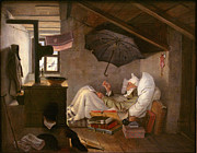 Famous Artists - The poor poet by Carl Spitzweg
