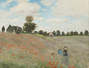 Monet Lady Posters - The Poppy Field Poster by Nomad Art And  Design