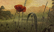 Brown Tones Painting Prints - The poppy in the field Print by Andreja Dujnic