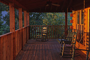 Cabin Wall Photos - The Porch Beckons by Kay Pickens