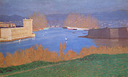 Nabis Paintings - The Port of Marseille by Felix Edouard Vallotton