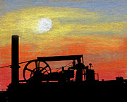 Motors Mixed Media Framed Prints - The Portable Engine Framed Print by R Kyllo