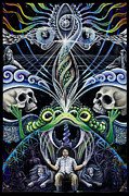Horus Painting Metal Prints - The Portal to Immortal Existence Metal Print by Morgan  Mandala Manley