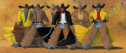 Western Abstract Prints - The Posse Print by Lance Headlee