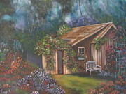 Shed Painting Posters - The Potting Shed Poster by Terry Boulerice