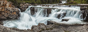 Glacier National Park Posters - The Power of the Falls Poster by Jon Glaser