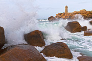 Rocky Coasts Framed Prints - The Power of Water Framed Print by Heiko Koehrer-Wagner