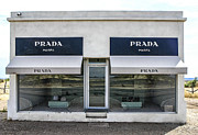 Marfa Texas Framed Prints - The Prada Installation in Marfa Framed Print by Rebecca Dru