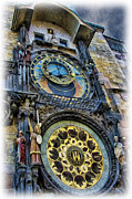 Astronomical Clock Acrylic Prints - The Prague Astronomical Clock II Acrylic Print by Lee Dos Santos