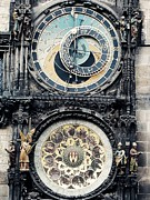 Czech Republic Digital Art Prints - The Prague Orloj Print by Zinvolle Art
