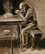 Black Man Pastels - The Prayer by Vincent Van Gogh