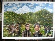 Little Big Horn Originals - The pre-last stand-Sitting Bull and Gen. Custer council by Faruk Bhuiyan
