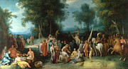 Famous Artists - The Preaching of Saint John the Baptist by Cornelis Cornelisz van Haarlem