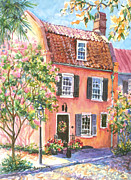 Alice Grimsley Metal Prints - The Precious Pink House Metal Print by Alice Grimsley