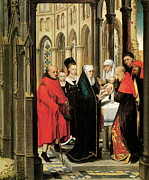 Baptism Painting Framed Prints - The Presentation in the Temple Framed Print by Hans Memling