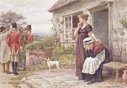 Cottage Country Paintings - The Press Gang by George Goodwin Kilburne
