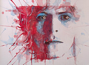 David Bowie Portrait Paintings - The Prettiest Star by Paul Lovering
