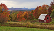 Charles Kozierok Prints - The Pretty Little Barn Eighteen Miles from Jay Peak Print by Charles Kozierok