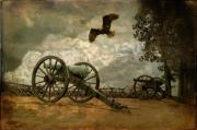 Artillery Digital Art Framed Prints - The Price Of Freedom Framed Print by Lois Bryan