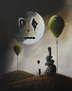 Sad Moon Prints - The Price Of Hope by Shawna Erback Print by Shawna Erback