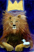 Prince Of Peace Framed Prints - The Princely Lion is the Lamb Framed Print by Kathleen Luther