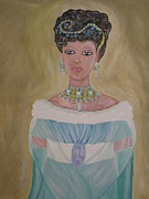 Ball Gown Mixed Media Metal Prints - The Princess Metal Print by Gina Alequin