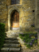 Stone Steps Framed Prints - The Private Entrance Framed Print by Douglas J Fisher