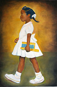 Racism Paintings - The Problem She Lives With by Sharon Norwood
