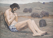 Man In The Wilderness Prints - The Prodigal Son Print by Pierre Puvis de Chavannes