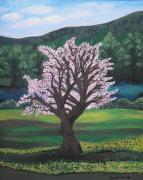 Tree Blossoms Paintings - The Promise of the Almond Tree by Cassandra Donnelly