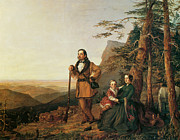 Pioneers Painting Posters - The Promised Land The Grayson Family Poster by William Smith Jewett