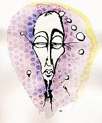 Face Mixed Media Prints - The Prophet Three Print by Mark M  Mellon