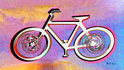 Tie Dye Framed Prints - The Psychedelic Bicycle Framed Print by Bill Cannon