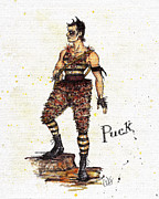 Theater Drawings - The Puckish Robin Goodfellow by Wes Jenkins