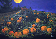 Pumpkins Paintings - The Pumpkin Patch by Gregory Peters