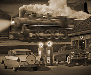 Steam Dreams Posters - The Pumps 2 Poster by Mike McGlothlen