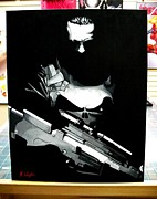 Avengers Painting Originals - The Punisher by Zakk Washington