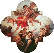 Angel Art Paintings - The Punishment of Love by Sebastiano Ricci